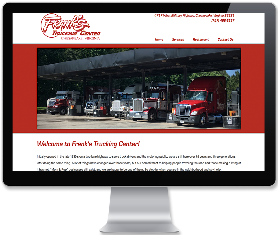 Franks Truck Stop Website